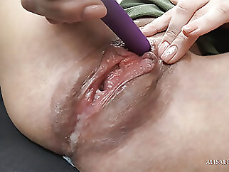 Slutty Step Sister Cumming from Sex Toy amateur babe