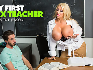 Alura 'tnt' Jenson's Student Is Mesmorized By Her Tits - MyFirstSexTeacher big ass big tits