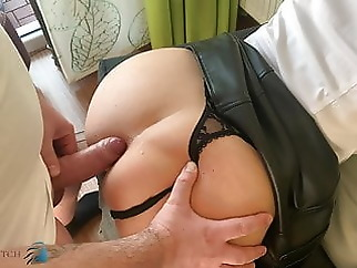 business meeting, home office anal fuck - business-bitch anal cumshot