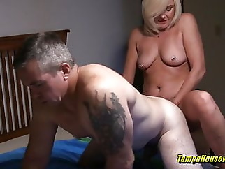Horny Housewives Can Help Out Their Bi-Curious Husbands blonde close-up
