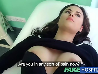 Fake Hospital Treatment make patient moan with pleasure point of view hardcore