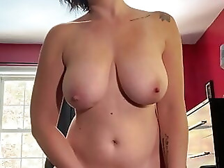 Sexy wife plays with her pussy till she cums, POV amateur brunette