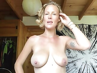 Exposed Yoga Slut Shares Her Large Tits and Beautiful Pussy amateur blonde
