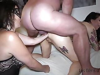Adeline double fisted, hard sex and fisting party with pervert anal hardcore