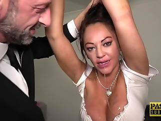 Kinky woman with big boobs, Vickie Powell lets her man play all kinds of sex games bdsm big tits