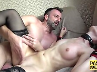 Naughty Whipped and Bound Submissive Gets Fingered hardcore anal