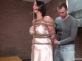 Karol Lilien & Ar in Cindy Gets Hogtied, Cleavegagged, And Stripped - KINK bdsm big tits